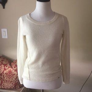 Cream Abercrombie girls sweater
